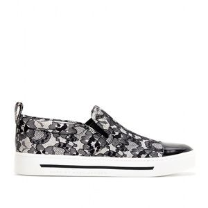 Marc By Marc Jacobs Lace Coated Slip On Sneakers